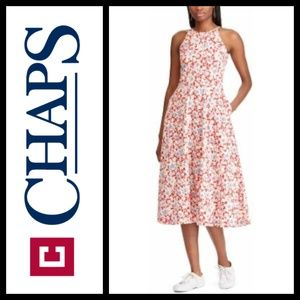 Chaps Sleeveless Floral Knit Dress NWT